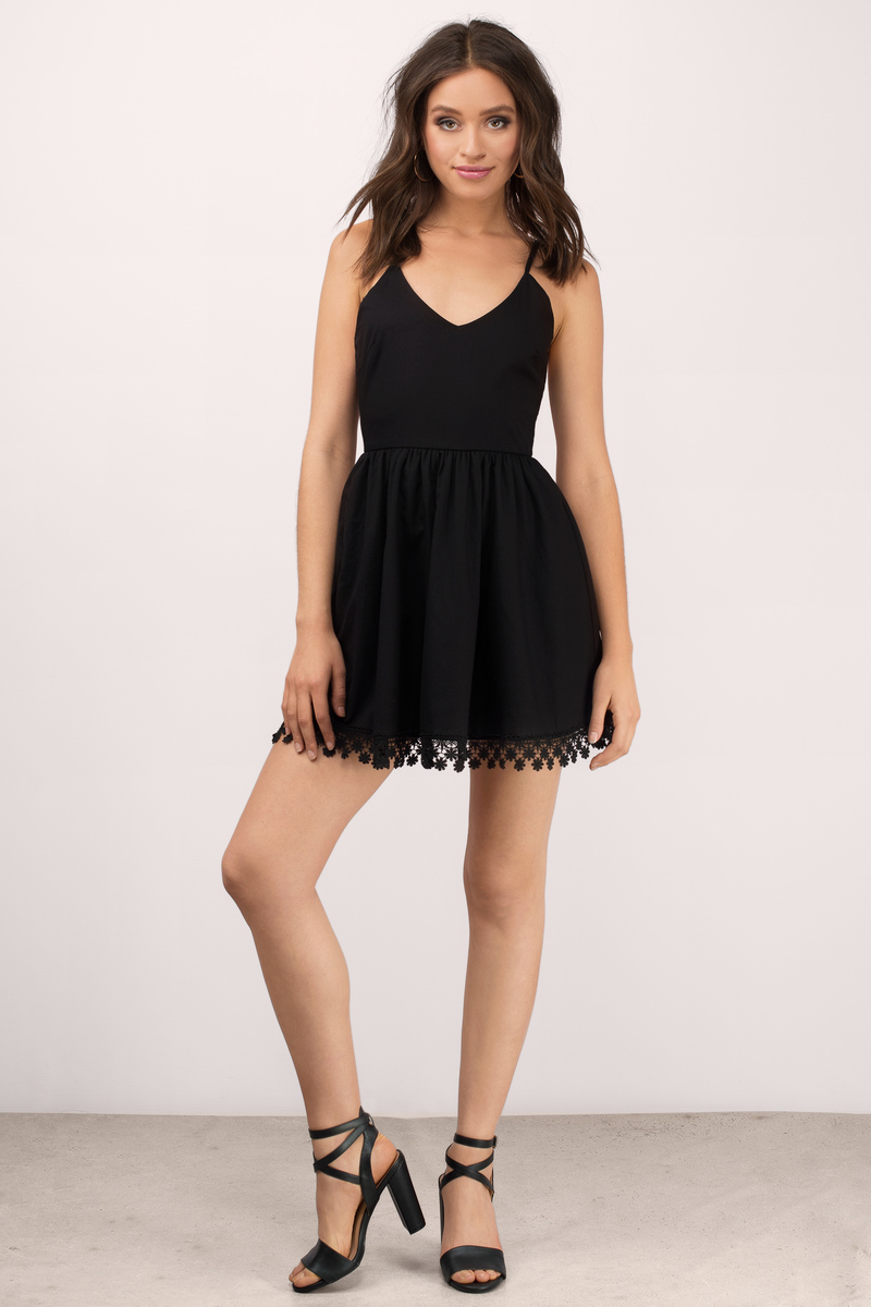 Black dress skater -  Daylight Black Skater Dress