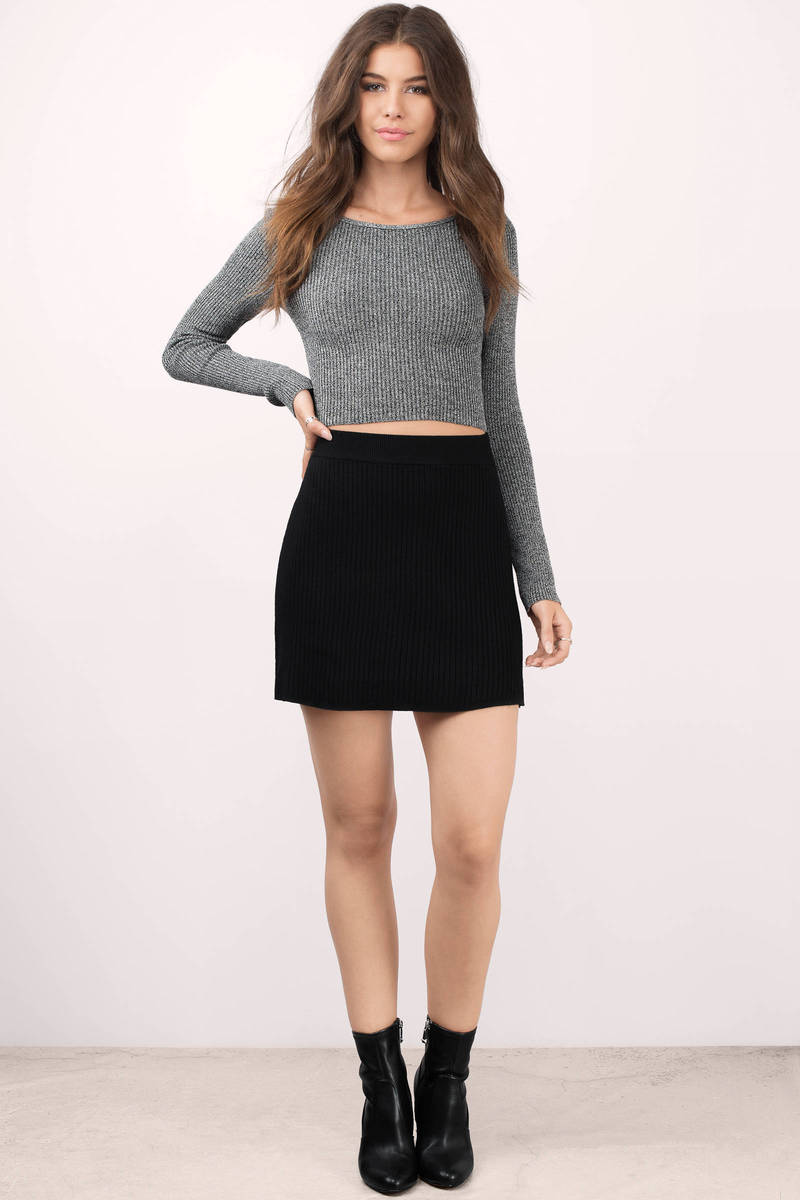 Black Skater Skirt Outfits😎 in 2019 | Fashion | Fashion ...
