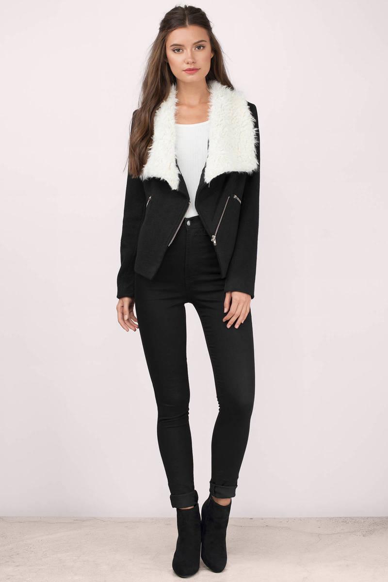 Trendy Camel Jacket - Faux Fur Jacket - Collared Jacket - Camel ...