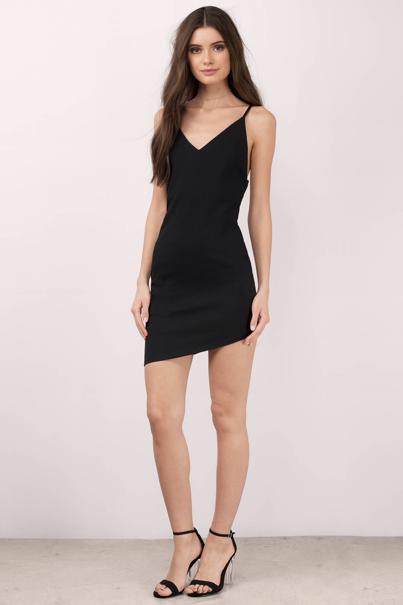 Black dress mini -  Frances Black Bodycon Dress
