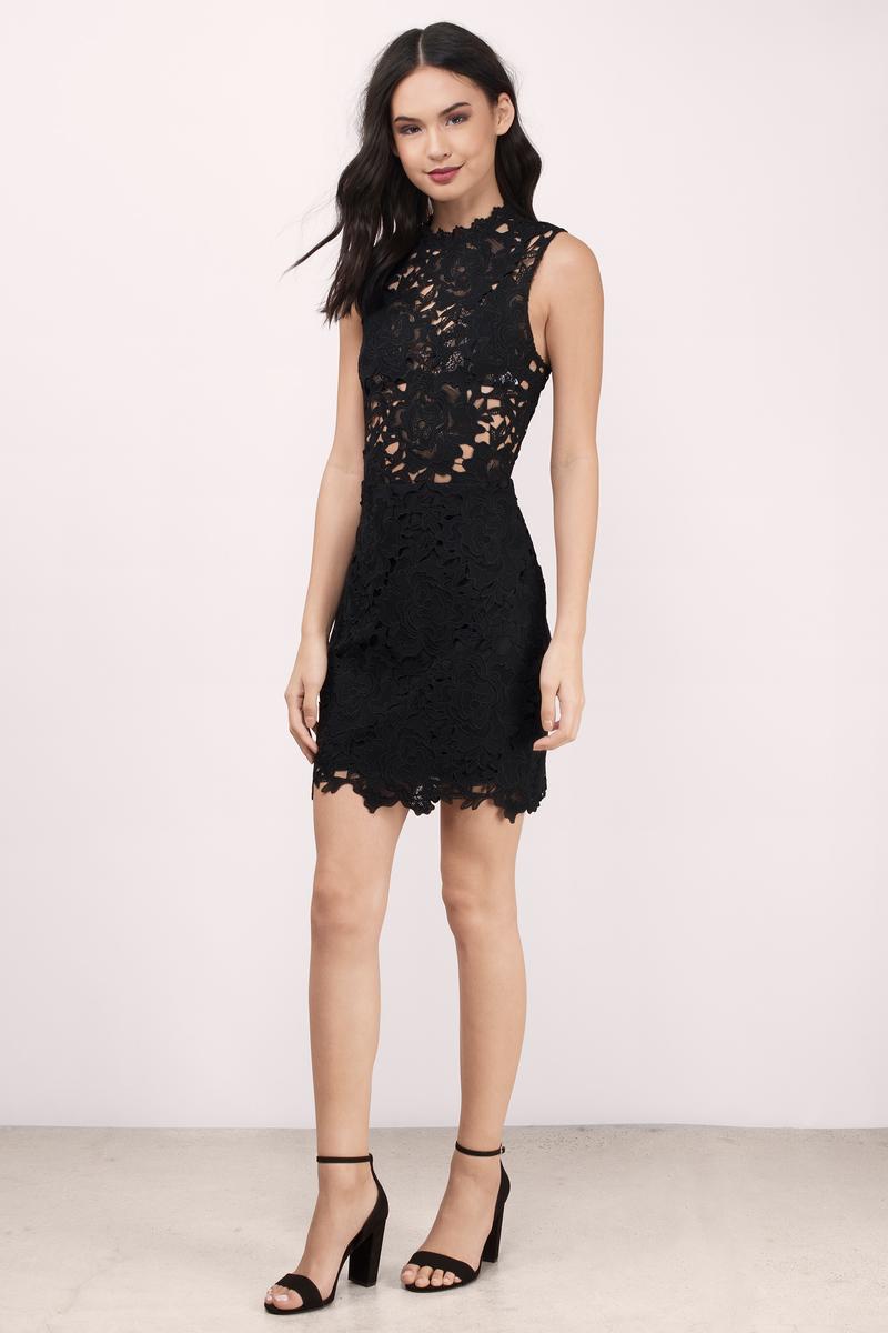 Black dress bodycon -  Sweet Fantasy Black Lace Bodycon Dress
