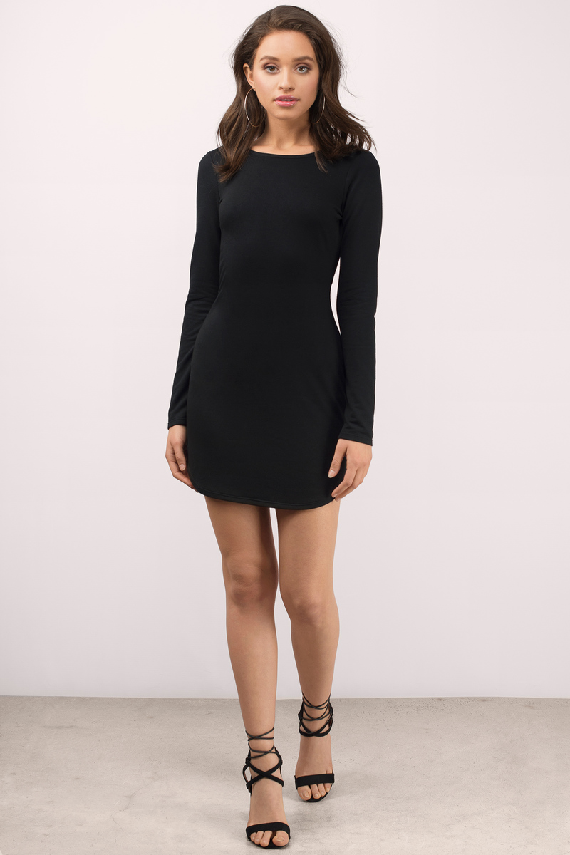 Sexy Black Bodycon Dress - Backless Dress - Bodycon Dress - $26.00