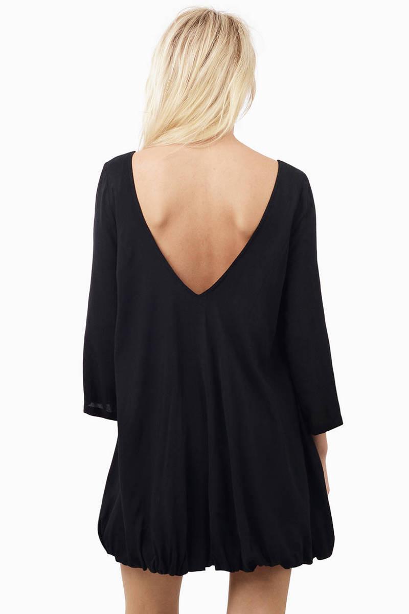 Black Bubble Dress - Black Dresses 2016