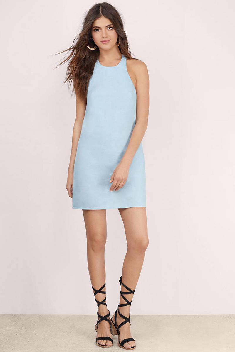 Cute blue shift dress blue dress halter dress shift dress 20 ombrellifo Choice Image