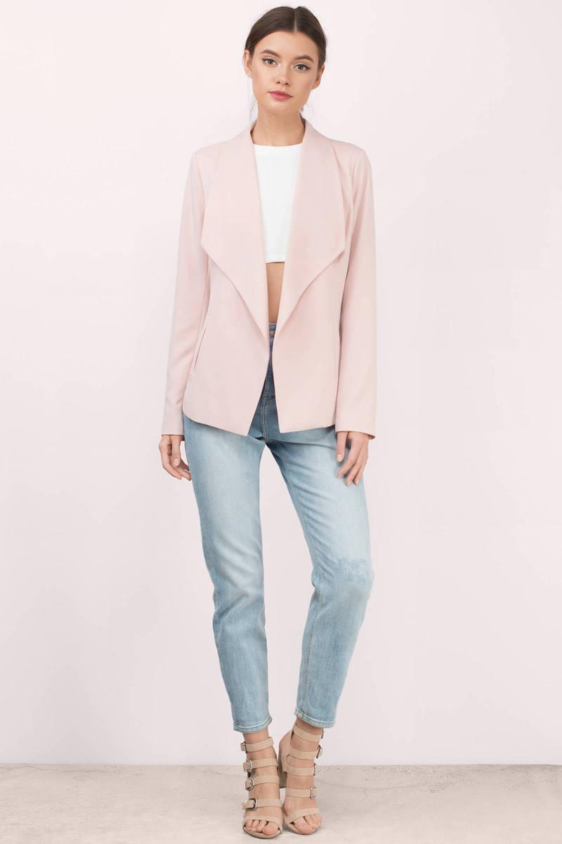 Trendy Blush Blazer - Open Front Blazer - Blush Blazer - $100.00