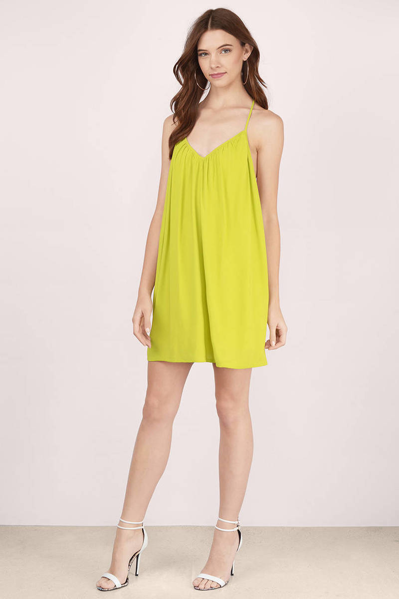 Cute chartreuse dress v neck dress peach swing dress shift saturday t strap chartreuse shift dress ombrellifo Image collections