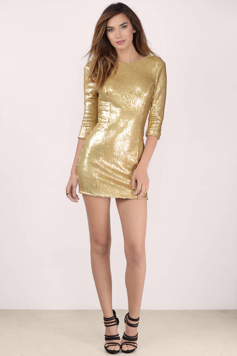 gold after hours sequin bodycon dress