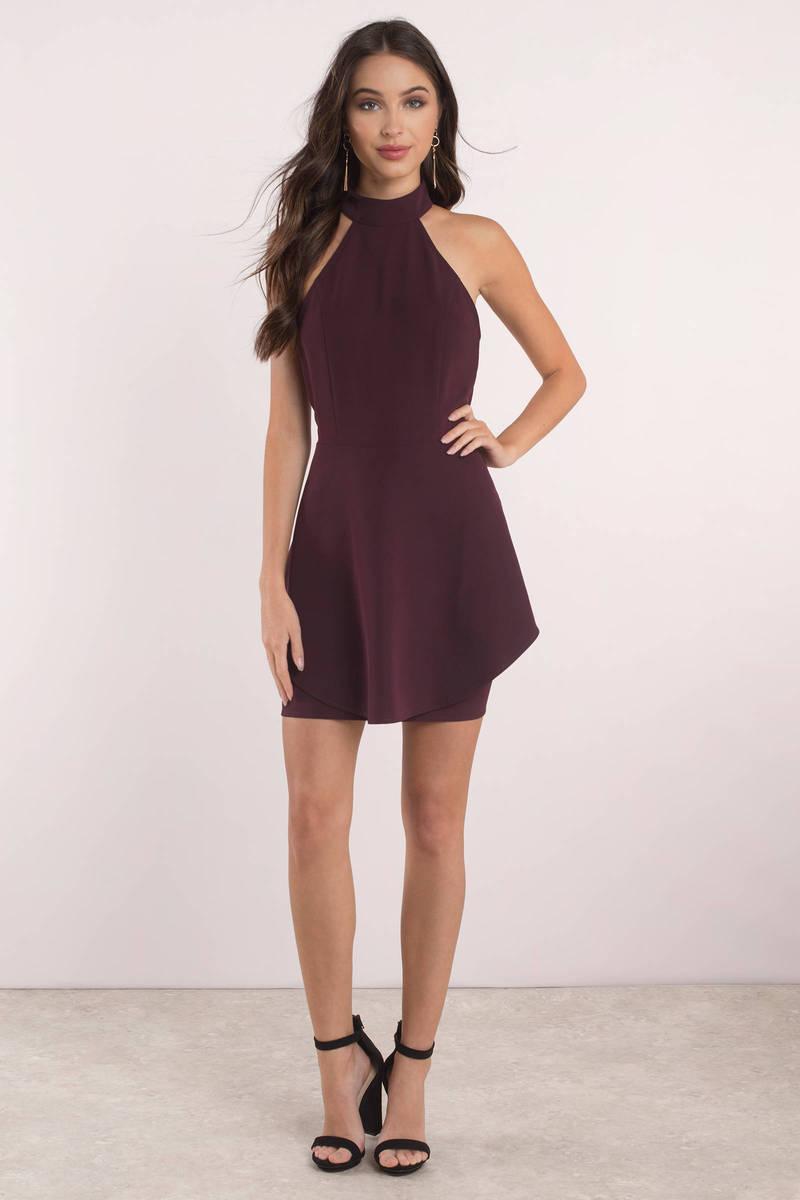 Black Dress - Open Back Dress - Skater Dress - $68 | Tobi US