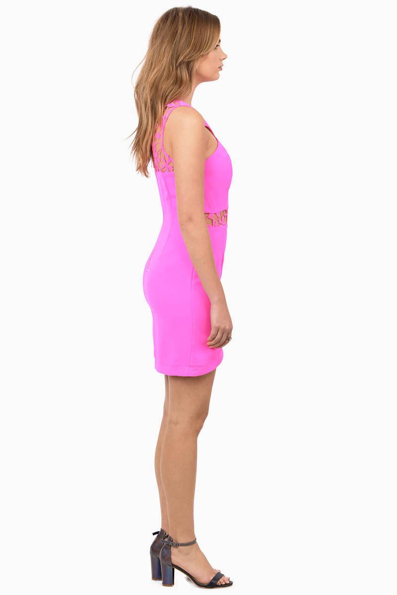 Cheap Pink Bodycon Dress - Strappy Dress - $20.00