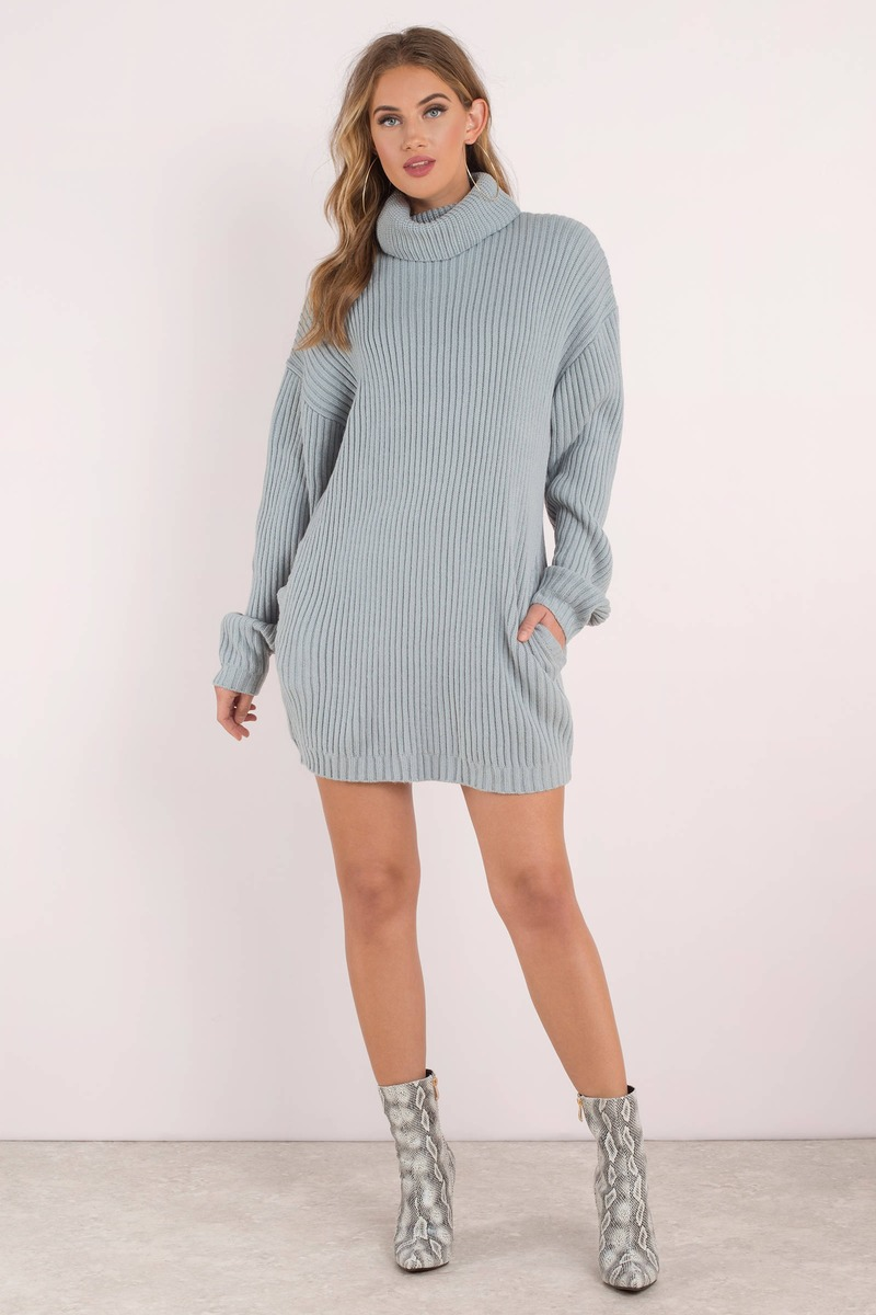 How Does It Feel Rose Turtleneck Sweater Dress - $35 | Tobi US
