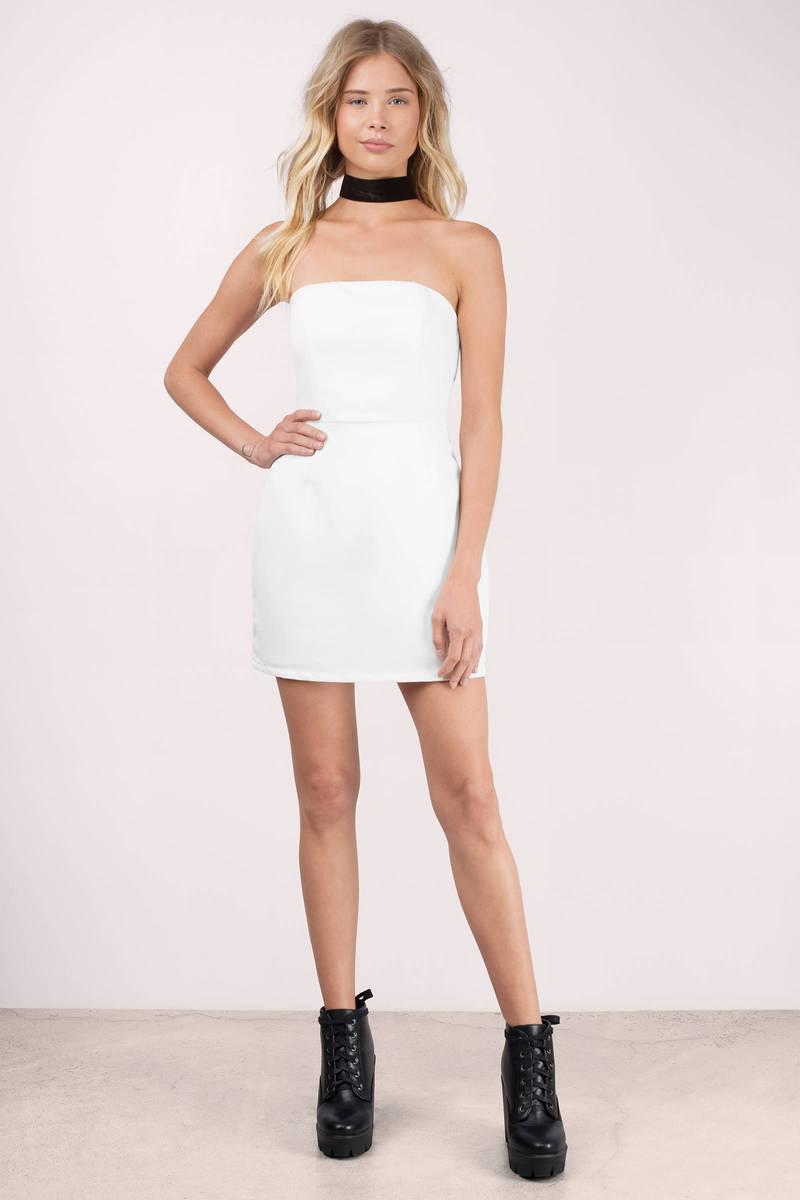 White bodycon dress cheap