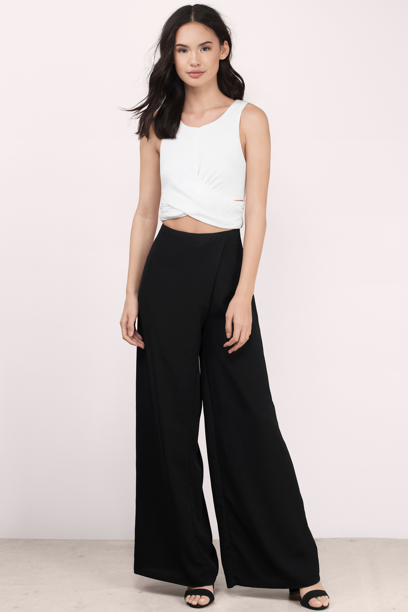 Cute White Crop Top - Wrap Top - White Top - White Crop Top - $18
