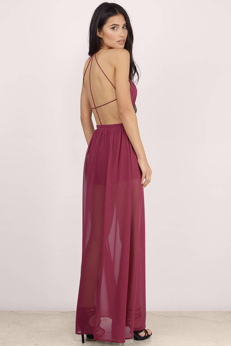 A French Affair Sheer Maxi Dress - $21.00  Tobi