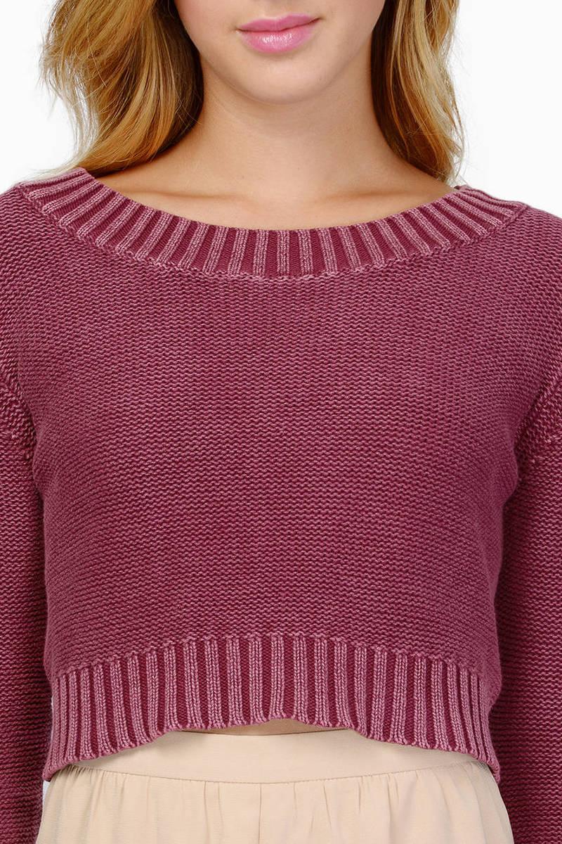 Burgundy Sweater - Red Sweater - Long Sleeve Sweater - $20.00