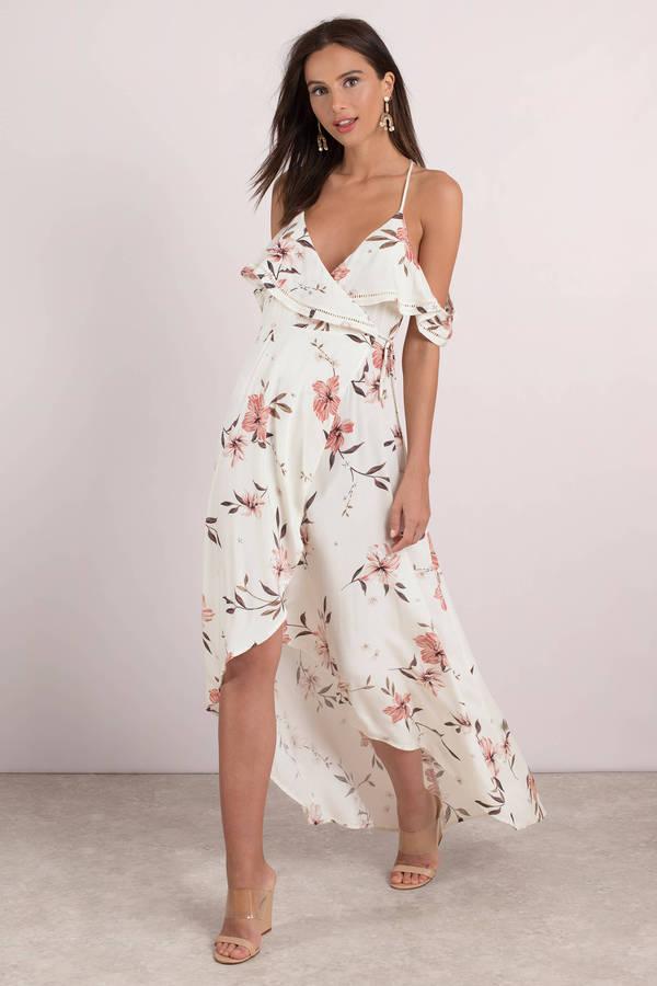 Beige Dresses Multi Sunset Fl Printed Maxi Dress