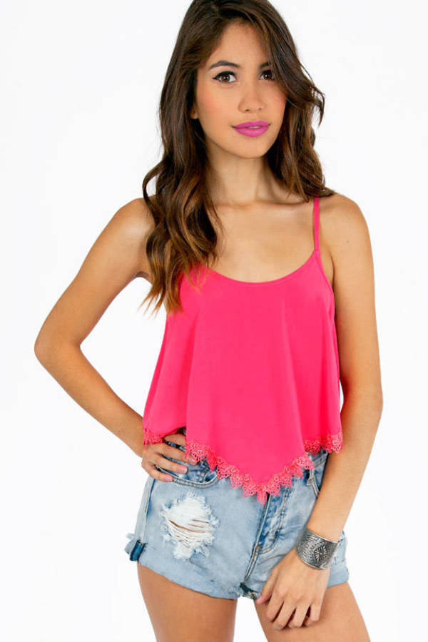Lilah Trimmed Crop Top