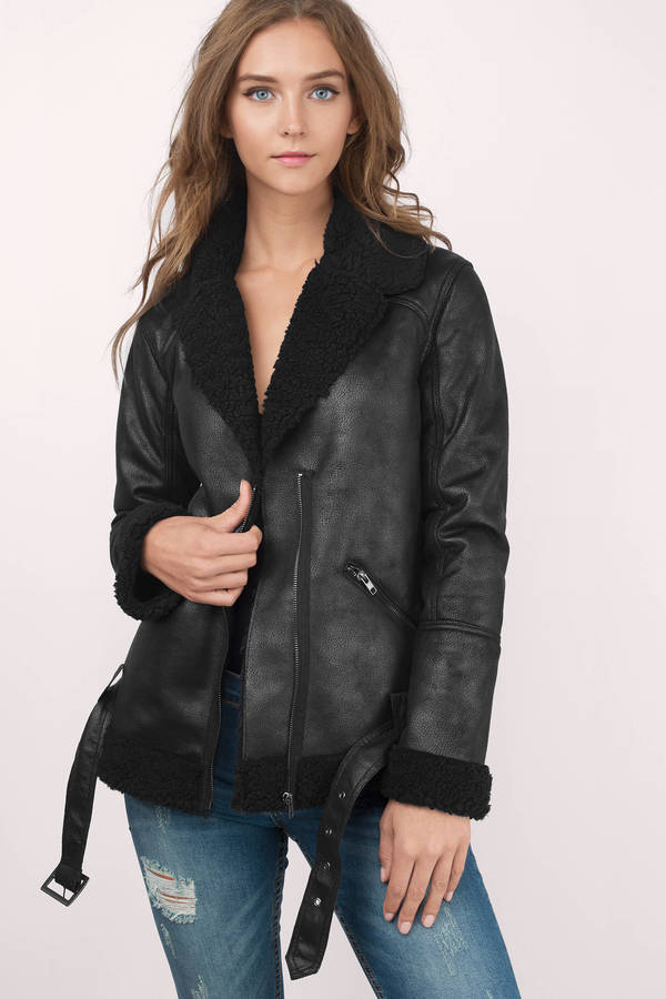 Black suede jacket sale