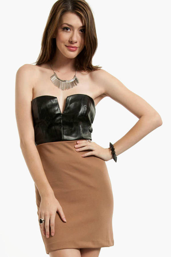 Selena Leather Dress