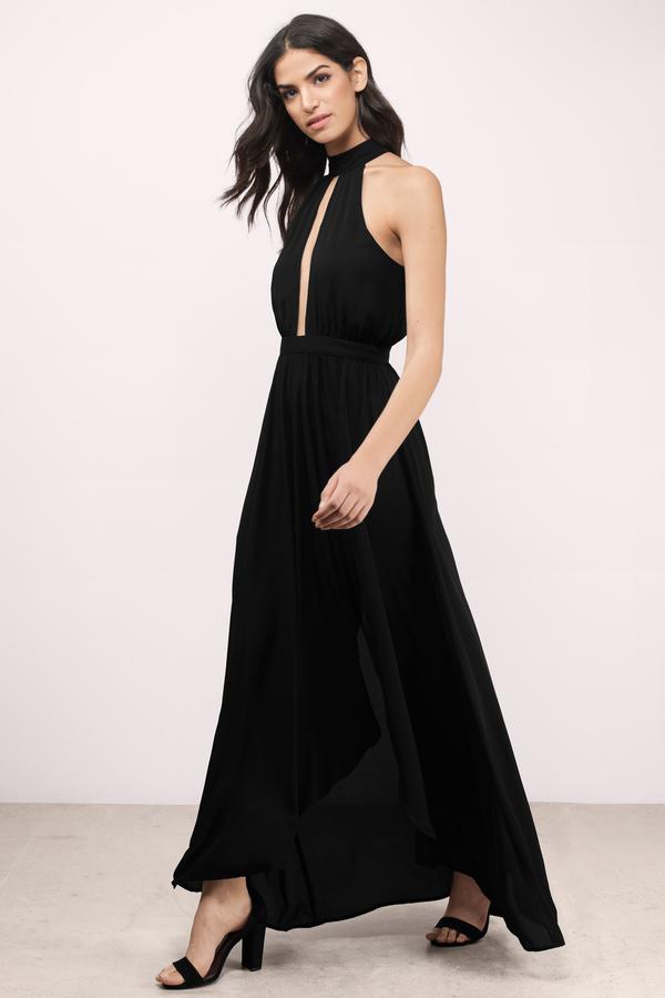 Sexy Taupe Maxi Dress - Keyhole Dress - Brown Dress - $34.00