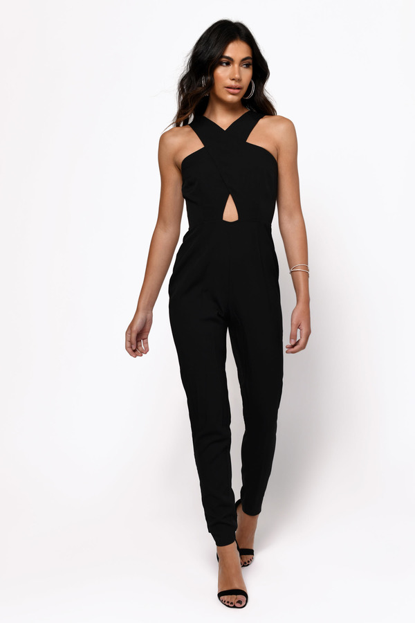 Beautiful Womens Black Dressy Jumpsuits - Breeze Clothing