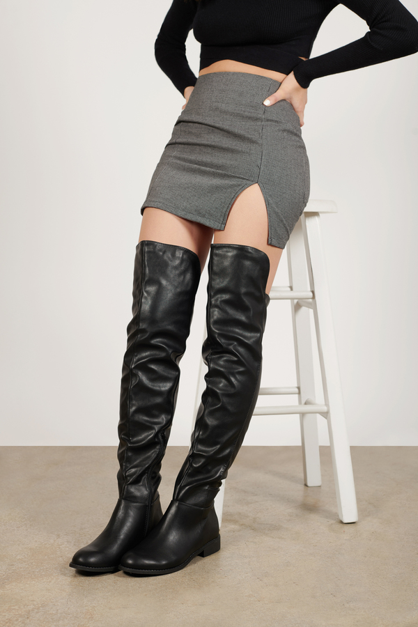 Beck Knee High Faux Leather Boots