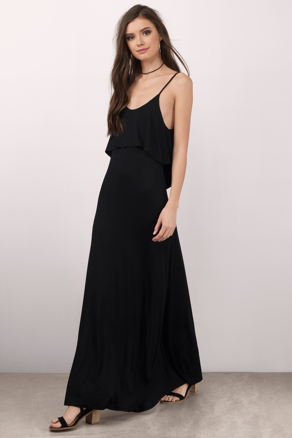 Black Maxi Dress, Long Black Dress, Long Black Dresses | Tobi