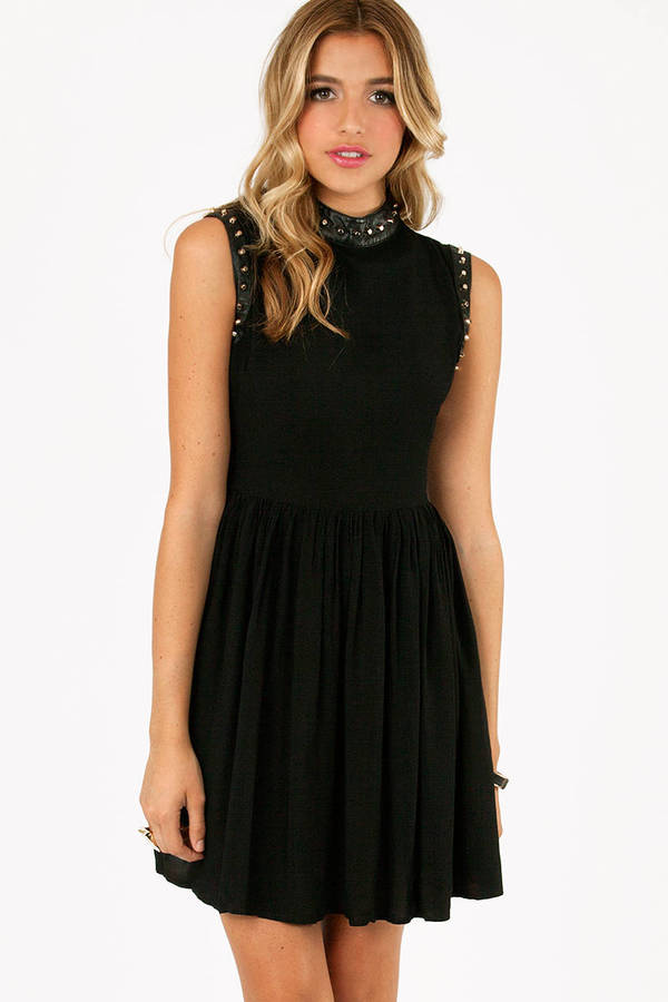 Brandi Sleeveless Studded Dress