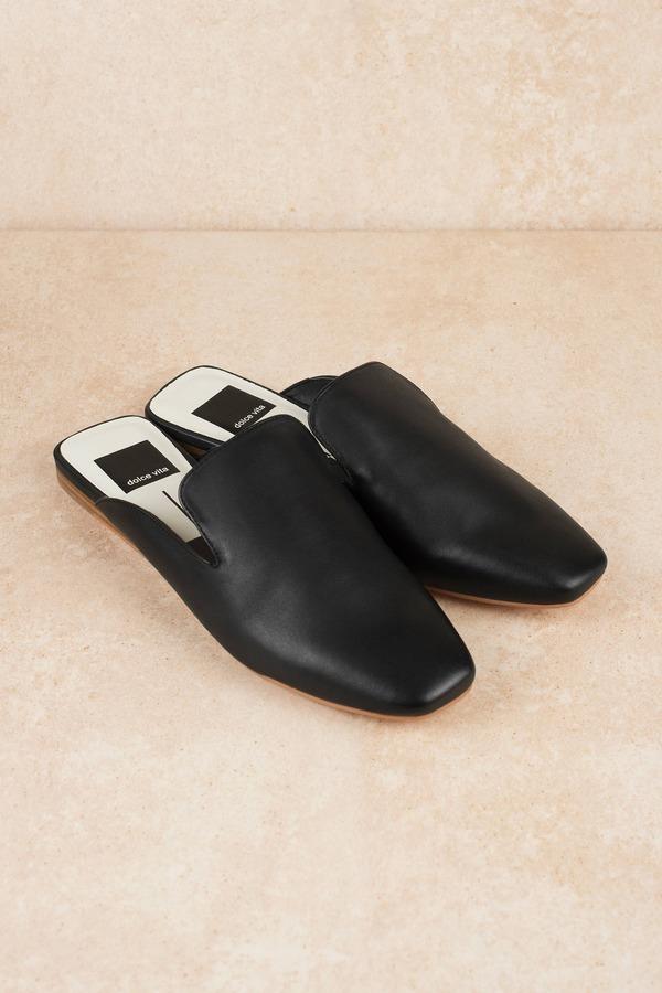Women\'s Black Flats | Leather Flat Shoes, Dress Shoes | Tobi