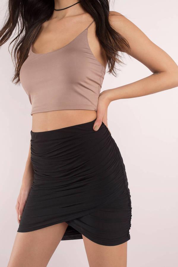 Cute Black Skirt - Wrap Skirt - Black Skirt - $48.00