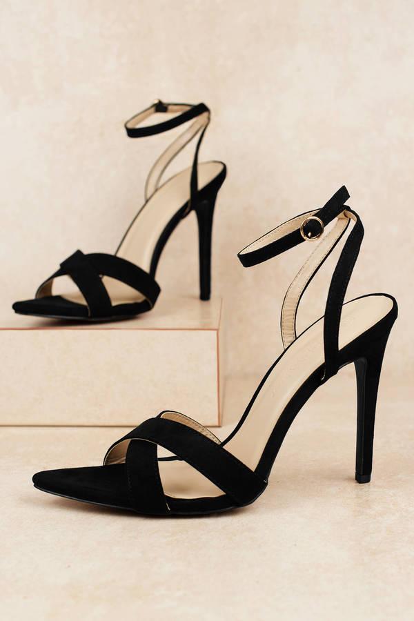 3e6c97c98d8 Ankle Strap Heels | Black Pumps, White Strappy High Heels | Tobi