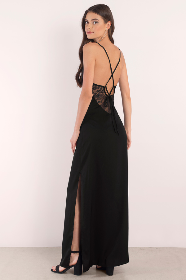 Formal Dresses Long Sleeve Black Lace Evening Gowns  Tobi