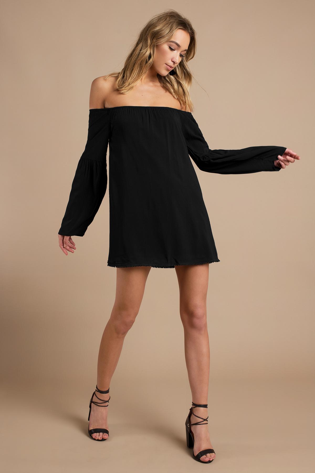 Wedding Off Shoulder Dress cute black shift dress off shoulder 54 00 cindy dress