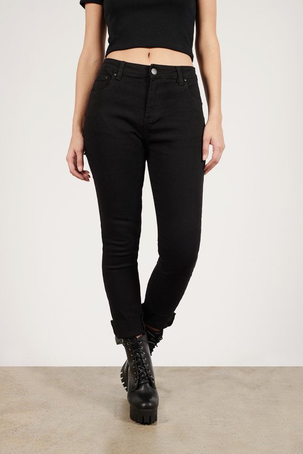 f1386c3b004 Jeans   Women's Jeans, Black Ripped Skinny Jeans, High Waisted   Tobi