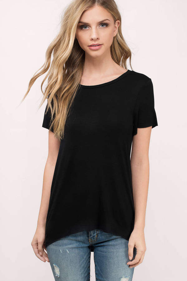 Cute white tee shirt scoop neck tee shirt white tee for Model black t shirt