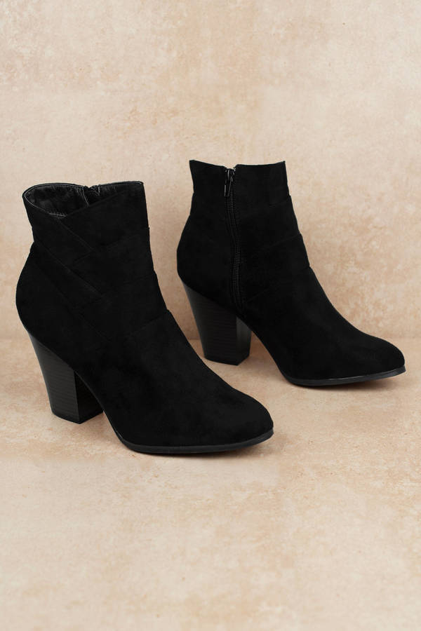 4d116cc90db Women's Ankle Boots & Booties | Black Booties, Short, Leather | Tobi