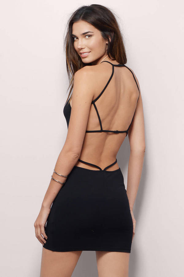 e3abff8b5ca12 Sexy Black Bodycon Dress - Strappy Dress - Bodycon Dress - S  19 ...