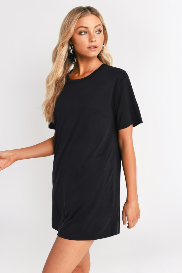 T Shirt Dresses Graphic Striped Distressed Oversized Tobi