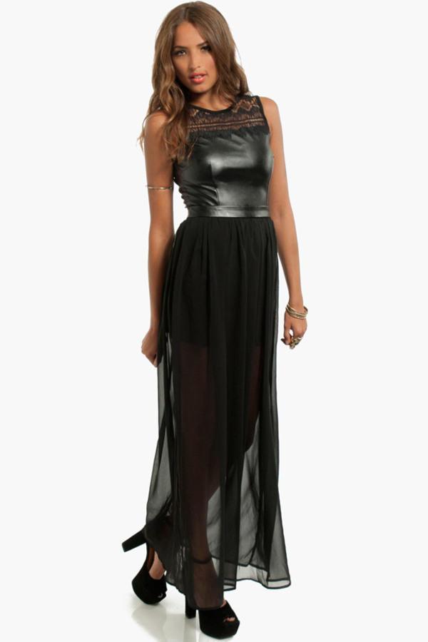 Elektra Contrast Maxi Dress