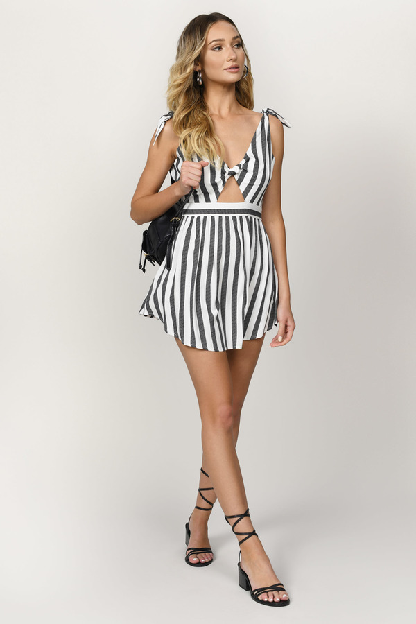 Striped Graduation Dress