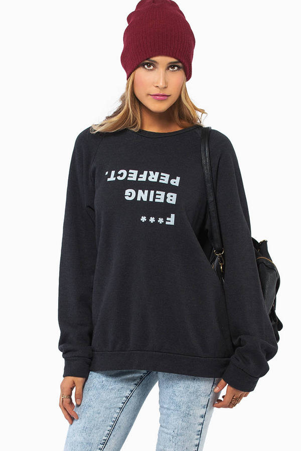 Good HYOUman F*** Being Perfect Sweater