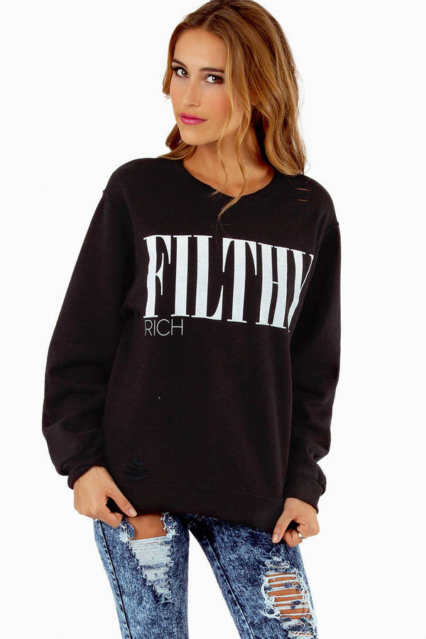 The Laundry Room Filthy Rich 90's Pullover