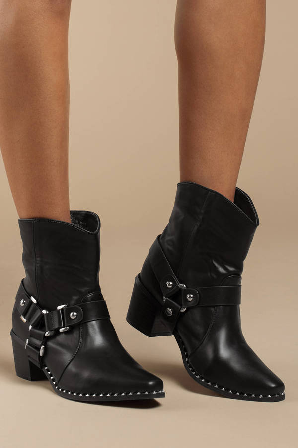 d09ff440c9483 Women's Ankle Boots & Booties | Black Booties, Short, Leather | Tobi