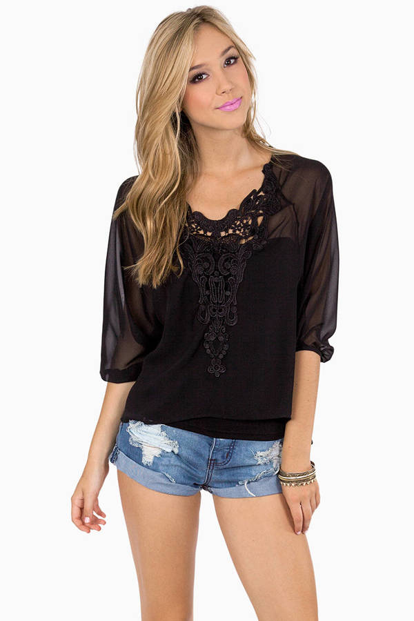 Flights of Embroidery Top