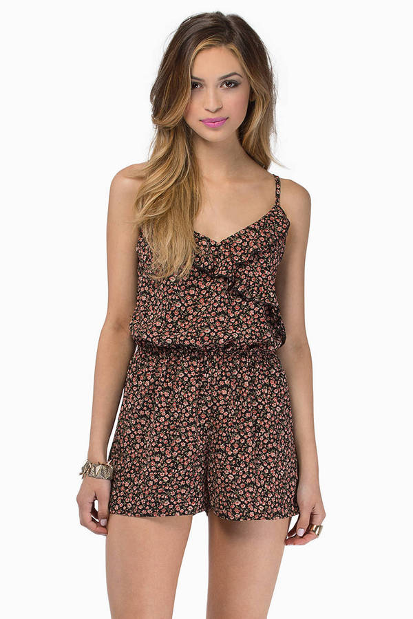 Floral Frenzy Romper