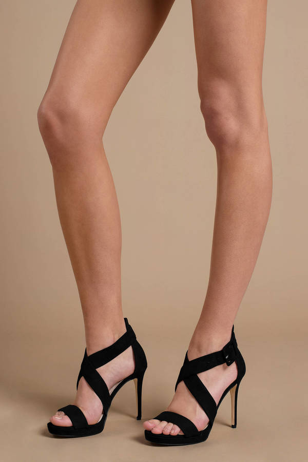 Chinese Laundry Foxie Black Strappy Heels by Tobi