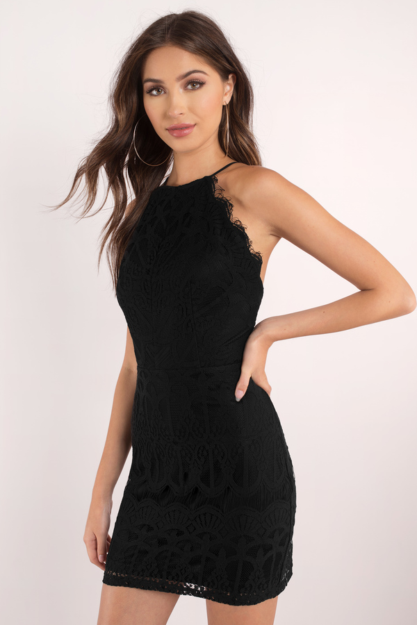 Black Dress - Lace Dress - Romantic Black Dress - Bodycon Dress | Tobi GB