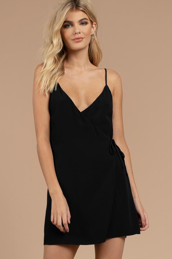 ee0d93baff Black Wrap Dress - V Neck Wrap Dress - Classic Black Dress - £25 ...