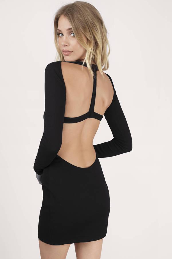 Black Bodycon Dress Raglan Dress Forest Black Long Sleeve Dress