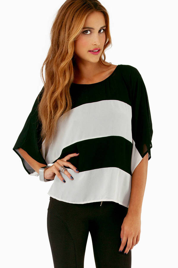 Again And Again Stripe Top