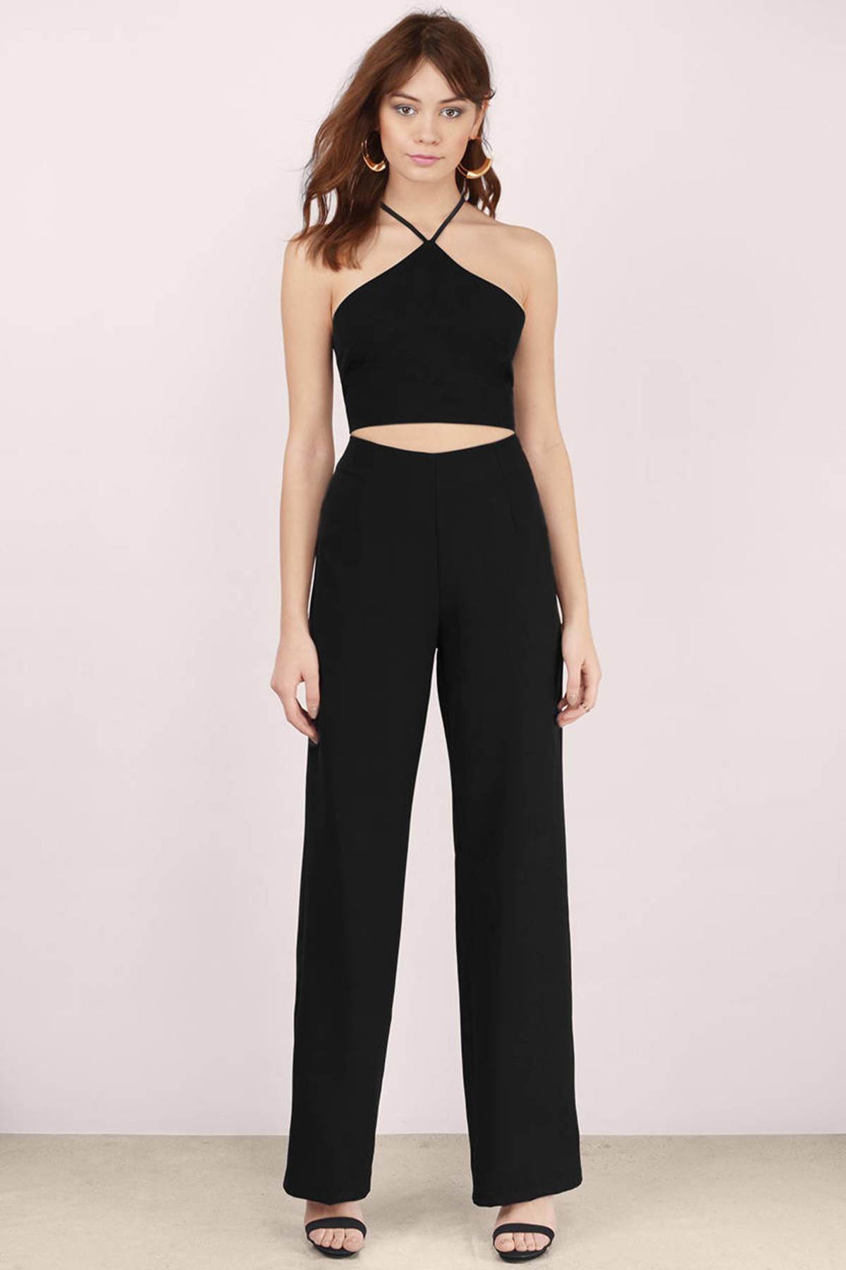 Black Jumpsuit - Black Jumpsuit - Halter Jumpsuit - $58.00